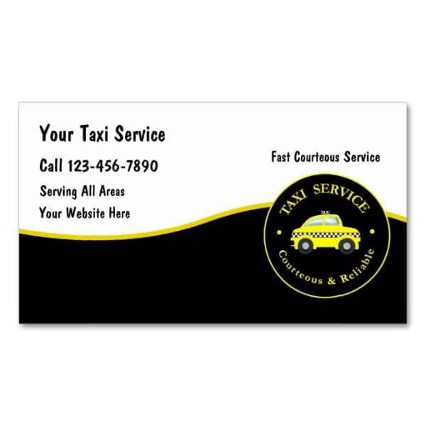 tarjetas de presentacion taxi logo
