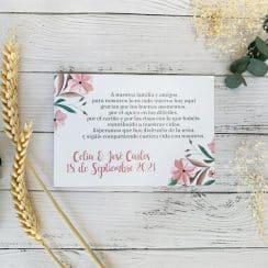 tarjetas de recuerdo de boda vintage