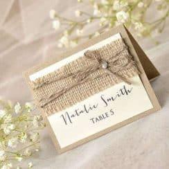 tarjetas para mesas de invitados bodas rusticas
