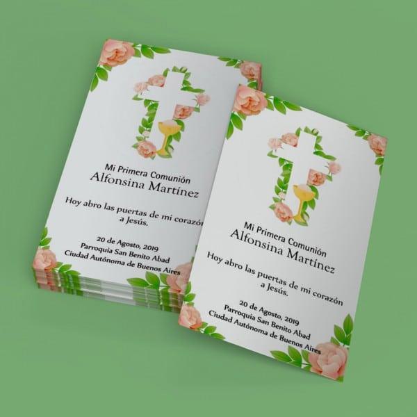 estampitas de primera comunion formato tarjeta de presentacion