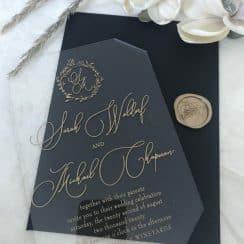 invitaciones de boda transparentes alta elegancia en acrilico