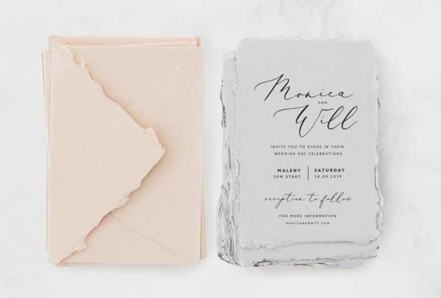 invitaciones hechas a mano con papel reciclado
