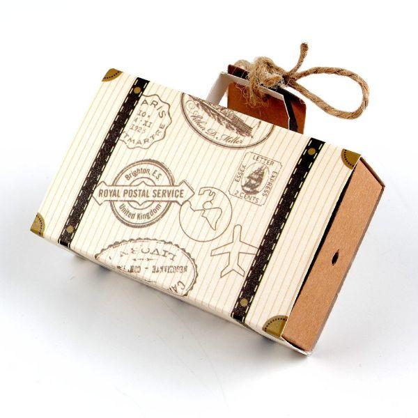 invitaciones para boda vintage en forma de maleta
