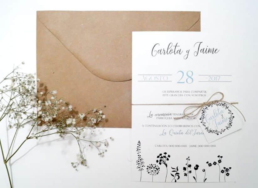 invitaciones para boda vintage tipografias