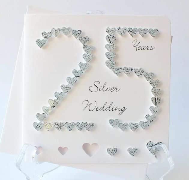 tarjetas de bodas de plata ideas manuales