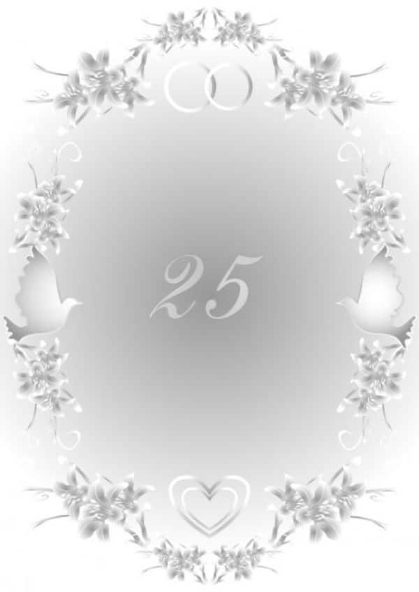 tarjetas de bodas de plata marco para editar